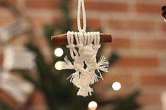 Dekorácie - Indiánske vianočné ozdoby so škoricou - 12509490_