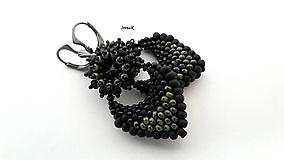 Náušnice - Pod hladinou...mini (black-travertin) - 12509461_