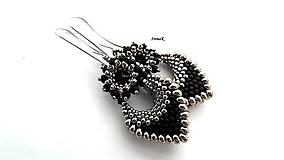 Náušnice - Pod hladinou...mini (black-nikel) - 12509478_
