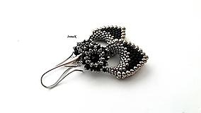 Náušnice - Pod hladinou...mini (black-nikel) - 12509480_