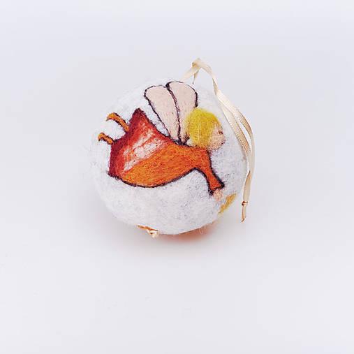 Vianočná guľa - oranžový anjelik