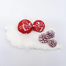 Dekorácie - Vianočná guľa bordová- anjelik - 12511797_
