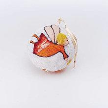 Dekorácie - Vianočná guľa - oranžový anjelik - 12511935_