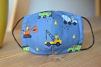 Rúška - ochranné bavlnené rúško pre väčšie deti (Modrá) - 12509435_