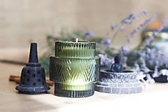 Svietidlá a sviečky - LIMITOVANÁ EDÍCIA - BRUSNICA a BAZALKA - Sójová vonná sviečka - 12509794_