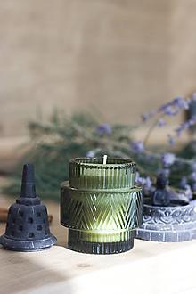 Svietidlá a sviečky - LIMITOVANÁ EDÍCIA - BRUSNICA a BAZALKA - Sójová vonná sviečka - 12509790_