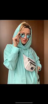 Šaty - Tyrkysova ulica - Oversized hoodie dress - 12513671_