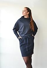 Šaty - Contrast (blue melange) - 12513253_