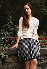 Sukne - Balonová sukně Plaid - 12513333_