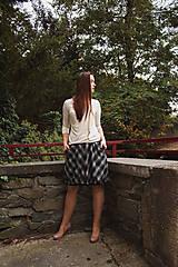 Sukne - Balonová sukně Plaid - 12513347_