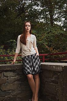 Sukne - Balonová sukně Plaid - 12513337_