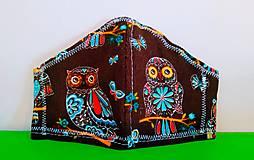 Rúška - Detské 2vrstvové rúško sovičky - 12511908_