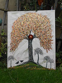 Obrazy - Strom hojnosti a magickej lásky - 12509226_