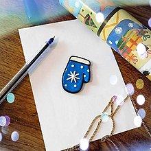 Magnetky - ★ Vianočná magnetka cartoon - rukavica vločková - 12511224_