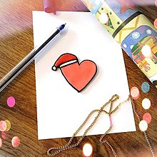 Magnetky - ★ Vianočná magnetka cartoon - srdiečko - 12511234_