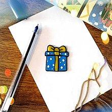 Magnetky - ★ Vianočná magnetka cartoon - vianočný darček puntíkový - 12511243_