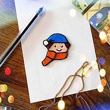 Magnetky - ★ Vianočná magnetka cartoon - chlapec - 12511247_