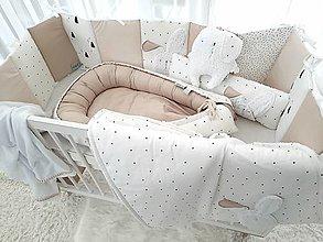 Textil - Kompletna sada PURE Latte (hniezdo/deka/zajko/mantinel/vankus) - 12519466_