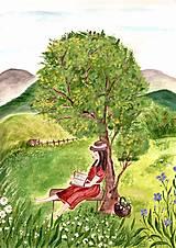 Papiernictvo - Pod stromom / pohľadnica - 12514642_