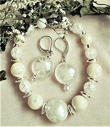 Sady šperkov - Ľadové kvety - 12516075_
