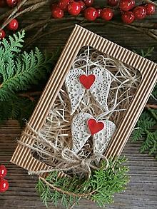 Dekorácie - Anjelské krídla na vianočný stomček v darčekovom balení - 12516161_