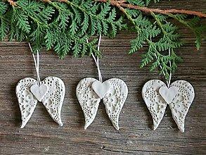 Dekorácie - Anjelské krídla na vianočný stomček - 12516212_