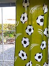 Úžitkový textil - Závesy futbalky - 12518025_