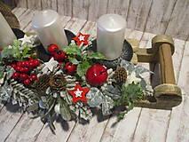 Dekorácie - Adventný svietnik - 12514671_