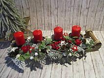 Dekorácie - Adventný svietnik - 12514676_