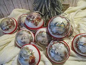 Dekorácie - Vianočné gule - 12515619_