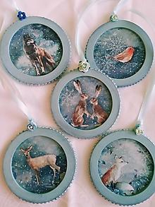Dekorácie - Vianočné dekorácie - Zvieratka v zime - 12516151_