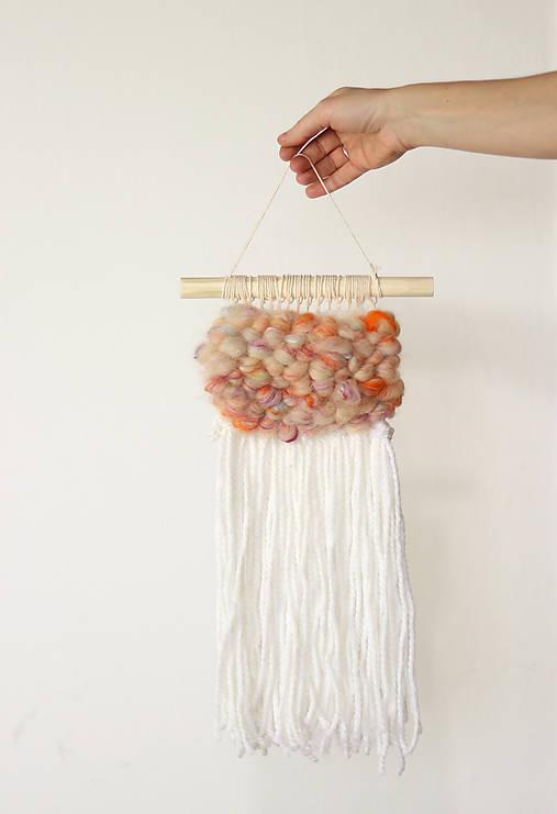 Ručne tkaná vlnená tapiséria - OBLÁČIK