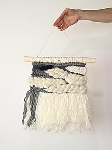 Dekorácie - Ručne tkaná vlnená tapiséria - 12514946_