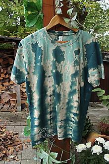 Tričká - Tričko_T-shirt_batik_green_M_uni - 12515410_