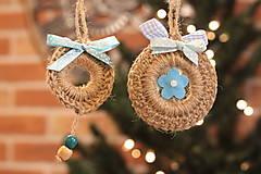 Dekorácie - Darčeková kolekcia háčkovaných vianočných ozdôb  6 kusov - 12514360_