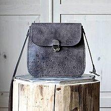Kabelky - Kožená kabelka Antique leather-black - 12517268_