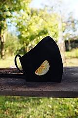 Dámske rúško s citrónom