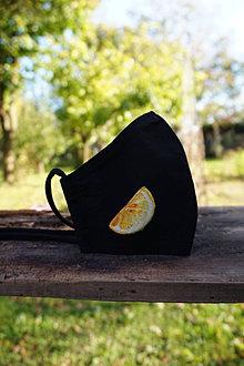 Rúška - Dámske rúško s citrónom - 12516934_