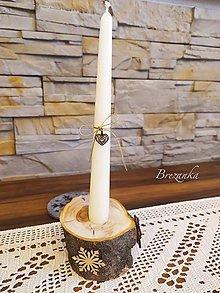 Svietidlá a sviečky - Zimný hruškový svietniček... - 12516582_