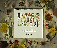 Papiernictvo - Kalendár 2021 ,v záhrade, - 12519321_