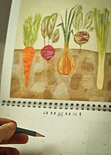 Papiernictvo - Kalendár 2021 ,v záhrade, - 12519322_