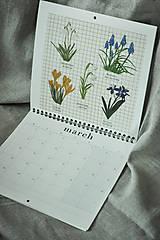 Papiernictvo - Kalendár 2021 ,v záhrade, - 12519325_