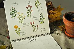 Papiernictvo - Kalendár 2021 ,v záhrade, - 12519326_