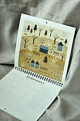 Papiernictvo - Kalendár 2021 ,v záhrade, - 12519327_