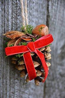 Dekorácie - Vianočná ozdoba - ŠIŠKY - 12514245_