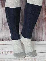 Iné oblečenie - Dámske pletené štucne s osmičkami - 12514652_