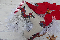 Dekorácie - Závesná dekorácia vianočná čižma - 12514329_