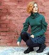 Sukne - NATALA - pletená sukně nad kolena - rovná - 12515774_