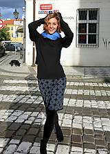 Sukne - NATALA - pletená sukně nad kolena - rovná - 12515778_