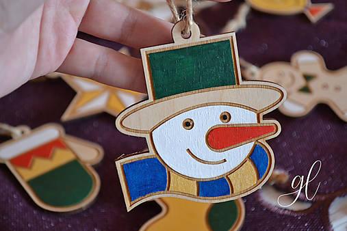 Vianočné ozdoby postavičky maľované (snehuliak)